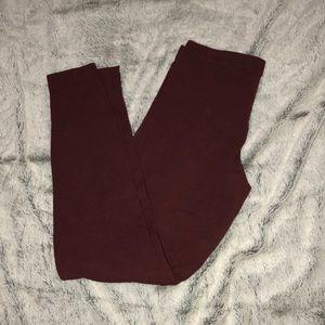 American apparel maroon leggings